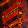Nick Scrimenti - Plaid Fabric Painting