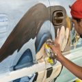 Nick Scrimenti - Nick Painting at ArtWorks Artcars